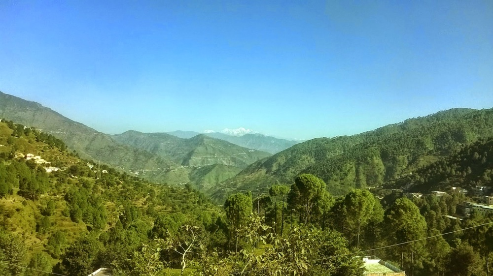 One day I will be there... The Himalayas - a distance view from the valleys of Chamba, Uttarakhand