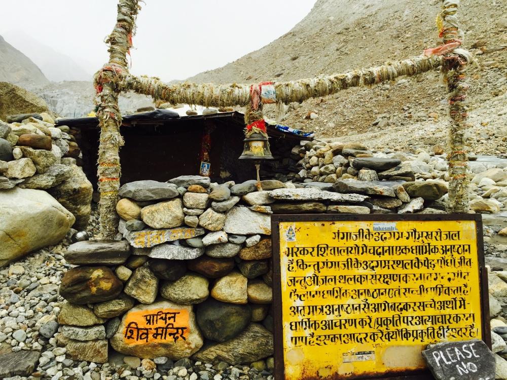 The ancient Siva temple in Gaumukh