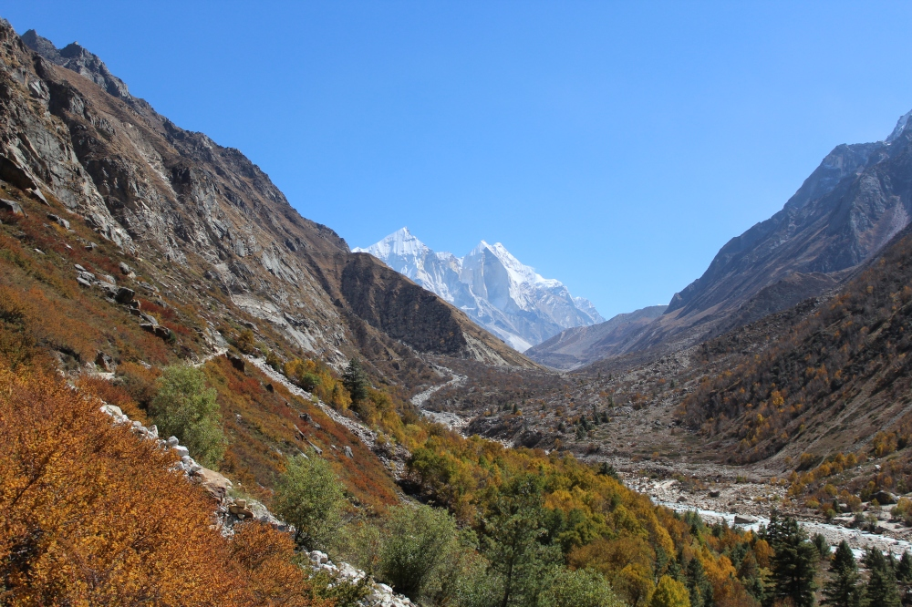 Abode of Gods - The Himalayas.. Bhagirathi Mountains in the distance.