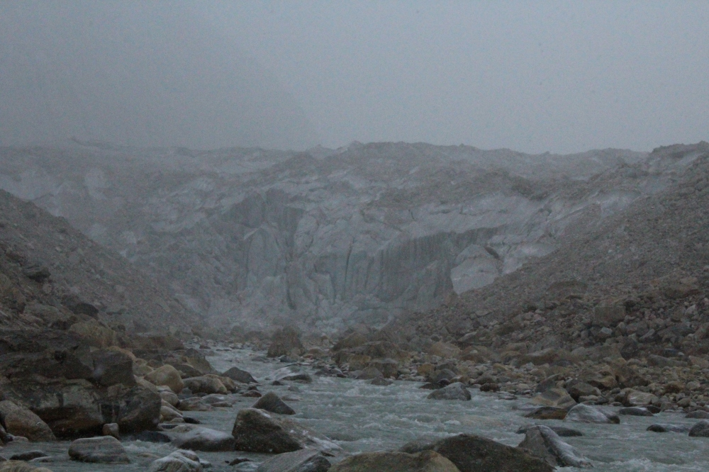 Gaumukh ice glacier - The source of the divine river Ganga (Ganges)