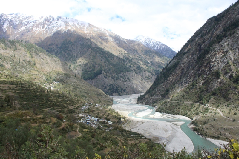 Bhagirathi aka Ganga/Ganges rushing through the valleys at Uttarkashi