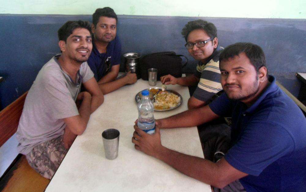 The Mumbai gang - Vasudev, Abhimanyu, Jayesh, Jay