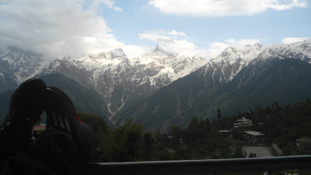 Couldn't ask for a better spot. View from our room in Kalpa