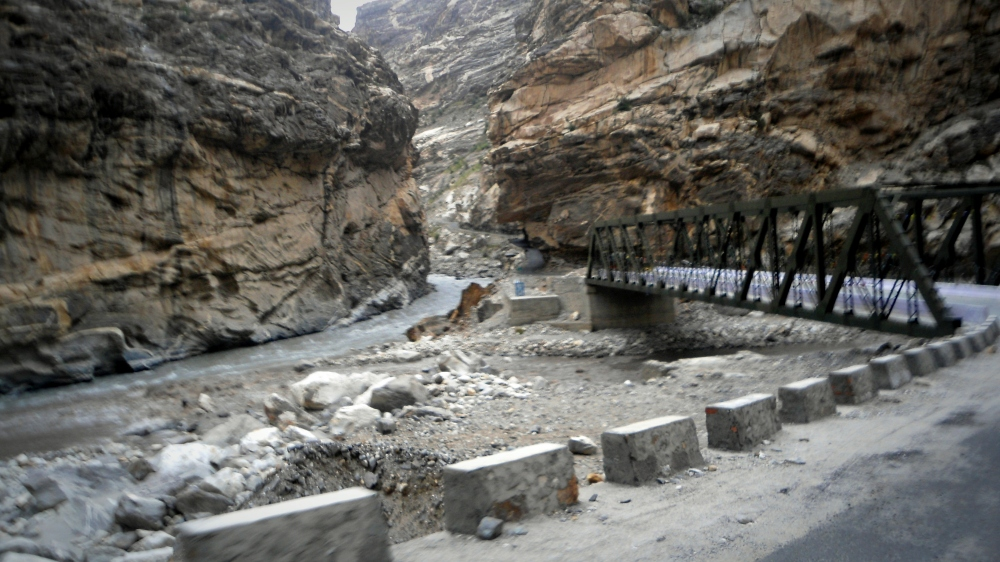 Spiti(on the left) merge with Sutlej at Khab