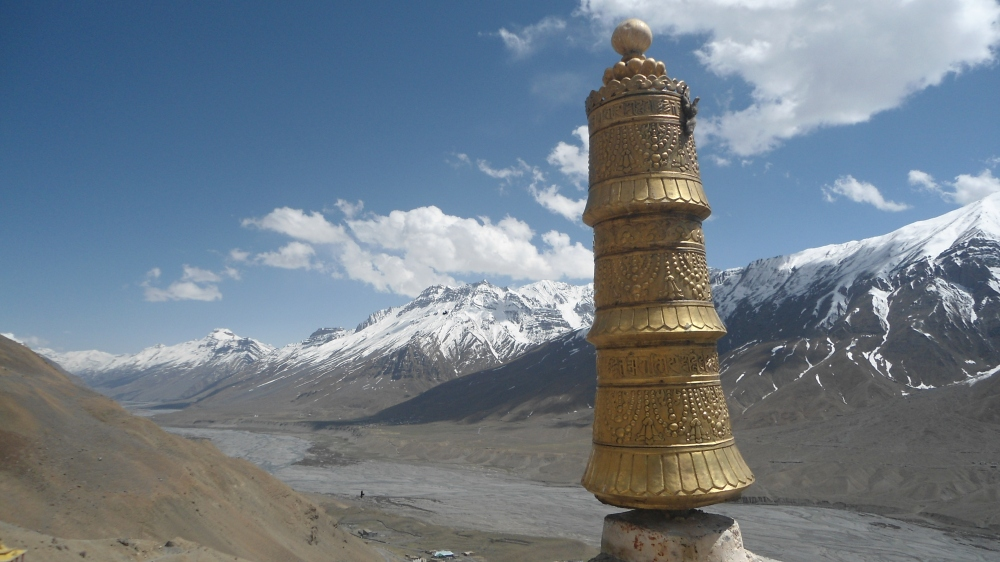 A view from top of the Key gompa/monastery