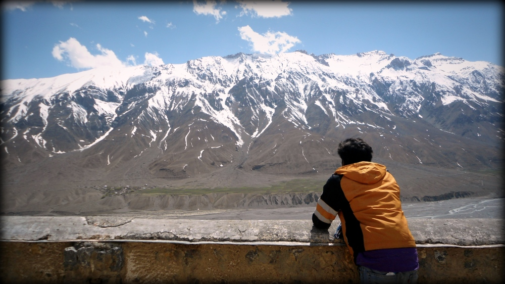 In this valley you could be alone but never lonely. At the Key monastery