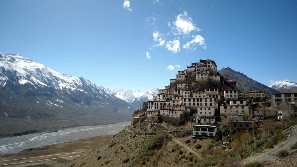 Key monastery in Kaza, Himachal Pradesh,India - My destination