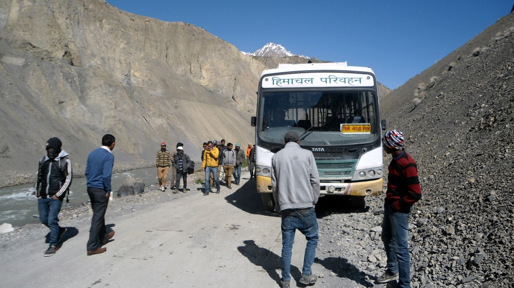 The famous Kaza bus broke down at nowhere