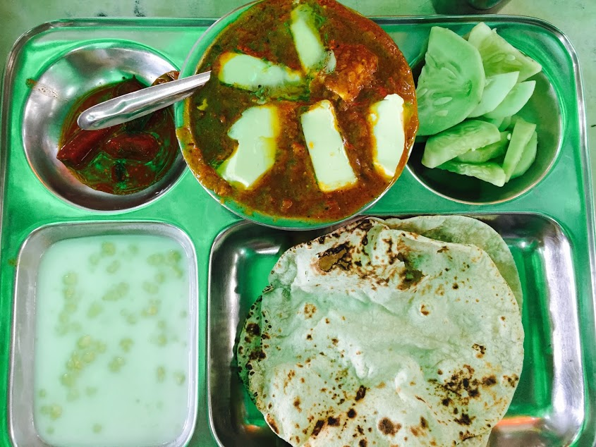 My regular lunch from the dhaba in Kasmiri gate!